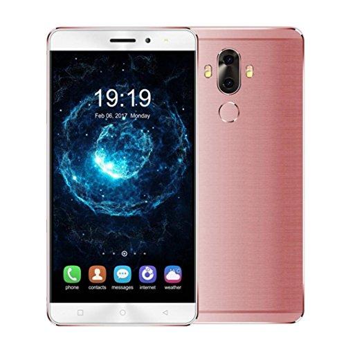 Preisvergleich Produktbild samLIKE 4G LTE Smartphone 6 Zoll Android 7.0 Fingerabdruck 2 GB RAM + 16 GB ROM Quad Core 2 SIM 2900 mAh Batterie GPS Handy (Rose Gold)