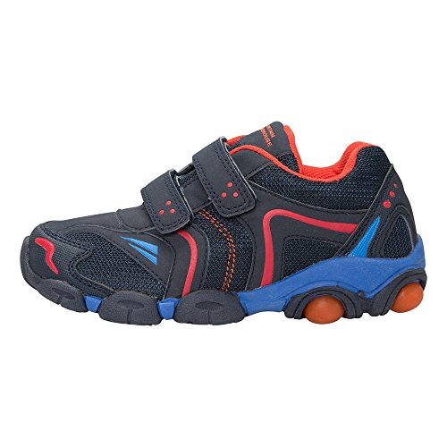 Mountain Warehouse Caterpillar Junior Kids Boys Girls Breathable Velcro Flashing Shoes Trainers Petrol Blue 11 Child UK