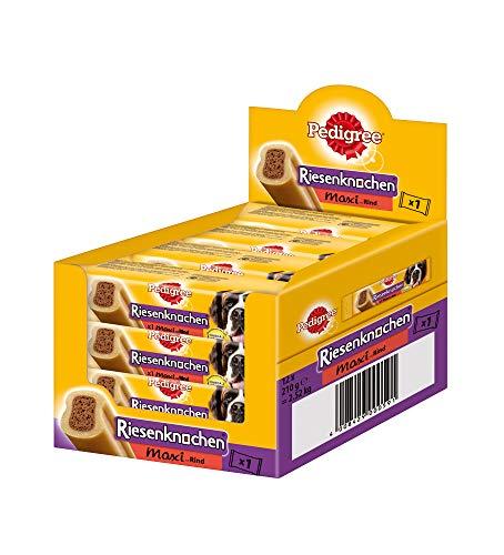 Pedigree Riesenknochen Maxi Hundesnack / 12 Packungen (12 x 210 g) - Für Hund Mittelgroße Knochen Hunde