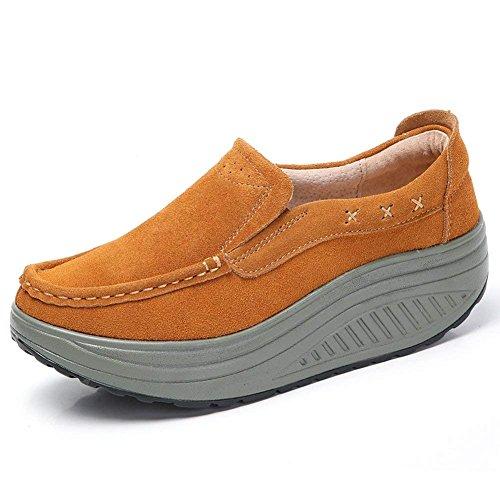 Mocassini scarpe donna in pelle scamosciata comode loafers scarpe casual dimagrante passeggio & scarpe outdoor tennis piattaforma running scarpe jogging