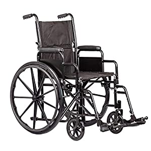 Viva Medi Self Propelled Steel Wheelchair with Removable Arms 19""