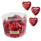 """50er SET Herz """"I love you"""", lose 9 g, in Dose / Schokolade Herzen / Valentinstag / Muttertag"""
