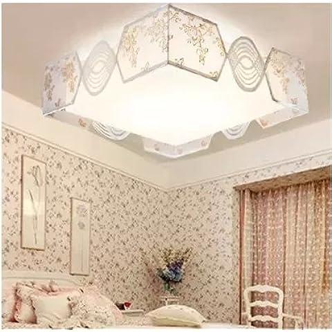 LYXG Las habitaciones son dormitorios de luz led luz de techo Lámparas de lana acrílica de niños luz luz de sala de estudio (480mm*480mm)30 W luz blanca