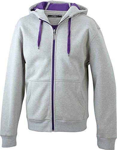 Sportliche Kapuzenjacke mit Fleecefutter - für Herren grey-heather/purple