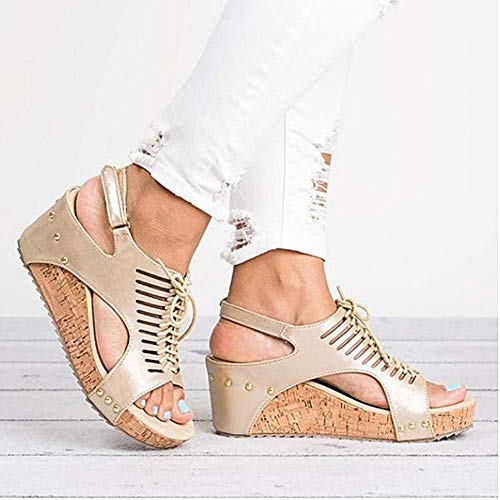 Platform Sandals Wedges Shoes for Women Heels Sandalias Mujer Summer Shoes Clog Womens Espadrilles Gladiator Women Sandals 2019