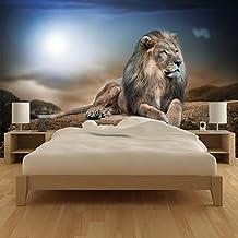 León majestuoso Fotomurales Animales de Safari murales pared Niños Dormitorio Decoración Disponible en 8 Tamaños Gigantesco Digital