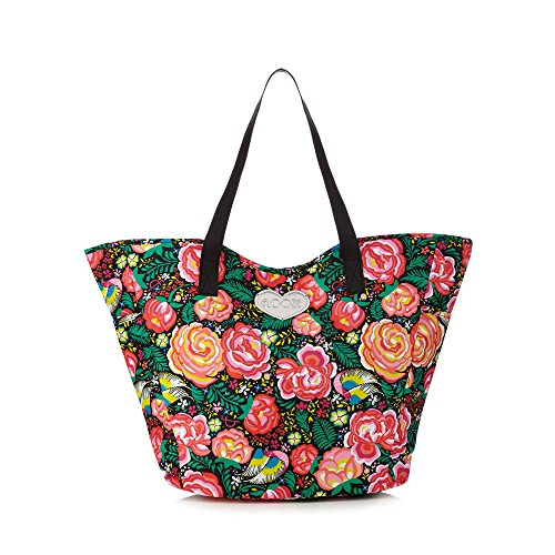 floozie-by-frost-french-womens-black-floral-print-tote-bag