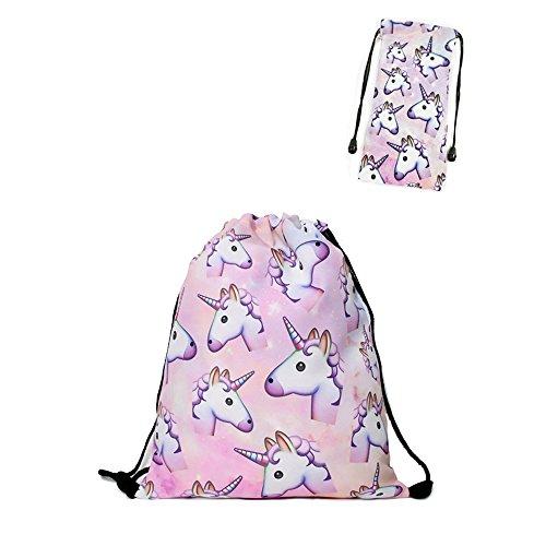 ba0283130e zaino unicorno Leah' fashion Fashion colorato cute happy 3d stampato  Unicorno Rosa Delle Ragazze Zaini pack of 4
