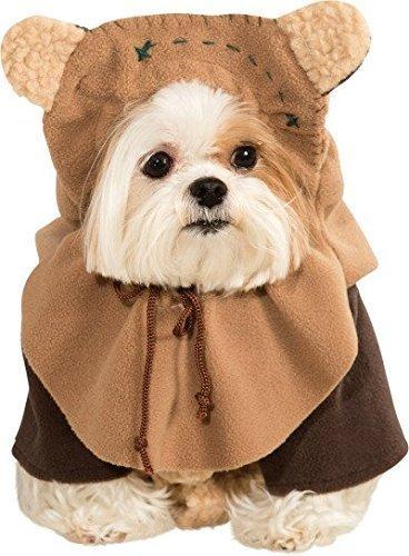 Haustier Hund Katze Ewok Star Wars Halloween Kostüm Outfit Verkleidung Kleidung S-XL - (Kostüm Ewok Hund)