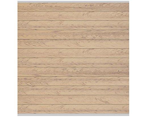 WPC System Zaunfeld Set sand 178×183, mit Silber Abschlussleistenset – Sichtschutzzäune Sichtschutzwand Gartensichtschutz Balkonsichtschutz Winschutz Sichtschutzwand für Garten