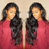QHJ Perruque Synthétique,Naturel Full Lace Gradient Wig Longs Cheveux Bouclés Perruque Synthétique Costume De Mode Perruque (C)