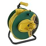 Exin H05VVF - Avvolgicavo con messa a terra, cavo in vinile da 3 x 1,5 mm², 50 m, colore verde/giallo