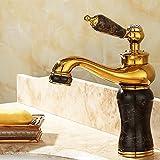 Rmckuva Waschtischarmaturen Waschbecken Wasserhahn Moderne Einhandmischer Messing Mixer Mixer Jade Tippen Schwarz-11