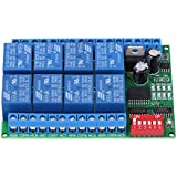 Tarjeta de módulo de control programable de comando de relé RS485 DC 12V 8 canales<br/>