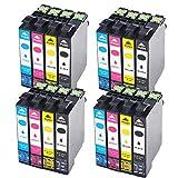 Teng Compatible Cartouche D'encres Epson T0712 T0713 T0714 T0715 pour Epson Stylus...