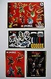 Lego Ninjago 4 Bogen Aufkleber mit 44 Sticker Set Ninja Movie Kindergeburtstag Dekoration Deko Sammeln,Spielen,Basteln,bunt