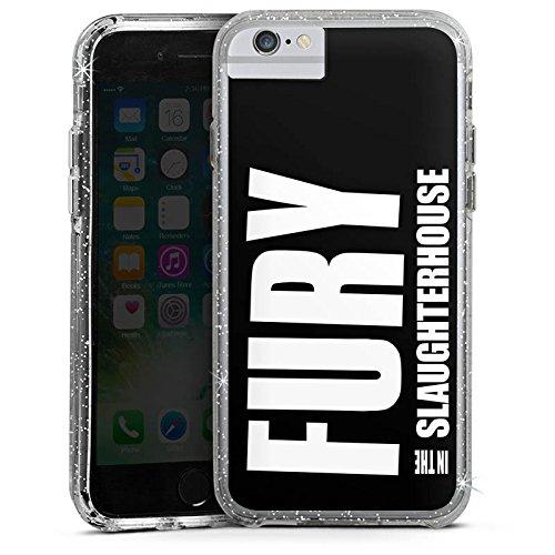 Apple iPhone 6s Plus Bumper Hülle Bumper Case Glitzer Hülle Fury In The Slaughterhouse Logo Merchandise Bumper Case Glitzer silber