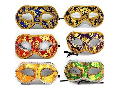 korationen 1 Stück Lace Cutout Maske Venezianische Half Face Masquerade Maske für Männer (Zufällige Farbe) Requisiten ()