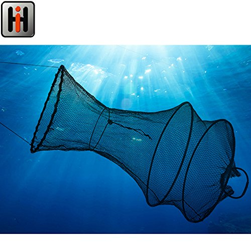 70cm Fischreuse / Setzkescher, Größe der Netzöffnung: 30cm || Unterfangkescher Fisch Reuse Kescher Stellnetz Zugnetz Wurfnetz