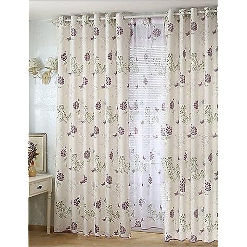 CLL/ dos paneles de algodón de ramio impresa europa contrajo cortinas del dormitorio sala de estar de estilo , tab top-2* , tab top-2*