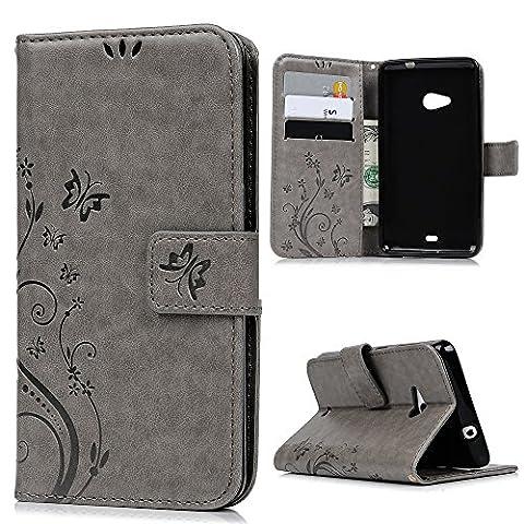 Lanveni® PU Ledertasche Drucken Hüllen für Microsoft Lumia 535 Case Flip Cover Telefon-Kasten Handyhülle Bookstyle Wallet Brieftasche Card Slot Handycase