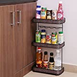 #3: Kurtzy Standing And Wall Rack Storage Organizer For Kitchen Living Room Office 3 Tier