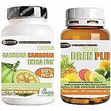 integratori dieta | 2 prodotti | garcinia cambogia extra forte | Bruciagrassi - favorisce la perdita di peso | 60 compresse | 1000 mg per compressa | Potente brucia grassi - anti fame - riduce l' appetito | Aiuta a drenare | 1 confezione 2 mesi di trattamento | Drenante dimagrante | Integratore Diuretico Naturale | Dren Plus 60 cpr | formulazione : GAMBO D'ANANAS PILOSELLA BETULLA FUCUS CENtELLA TE' VERDE GINKGO BILOBA BIOFLAVONOIDI | integratori dimagranti forti