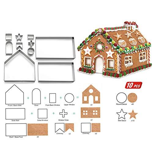 3d23eb3cbd 10PCS/set casa di marzapane in acciaio INOX di Natale usato Spedito ovunque  in Italia