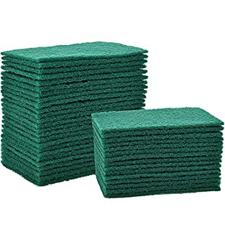 40 Pieces Cleaning Scrub Sponge Scouring Sponge Pads Non Scratch Pads for Kitchen Dishes Cleaning, Green