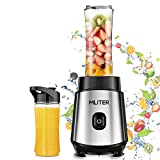 500W Blender Smoothie Maker with 2 Bottles & Stainless Steel Blade, Security Protection, Portable & Personal Blender for Fruit Vegetable Home, Sport, Outdoor, Traveling Baby Food