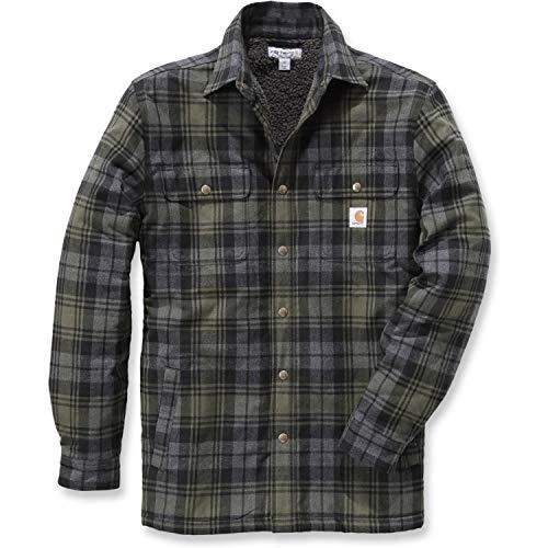 Carhartt .102333.316.S007Hubbard Hemd Jacke, Sherpa-Gefüttert, Farbe:Moos, Größe:Größe XL. -