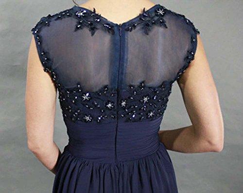 Bridal_Mall - Robe de mariage - Trapèze - Sans Manche - Femme Bleu Marine
