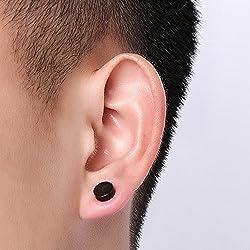 5 pares Joyer a Pendientes Magn ticos de Acero Inoxidable Quir rgico para O do sin Agujero Punk Rock Earrings sin Plugs para