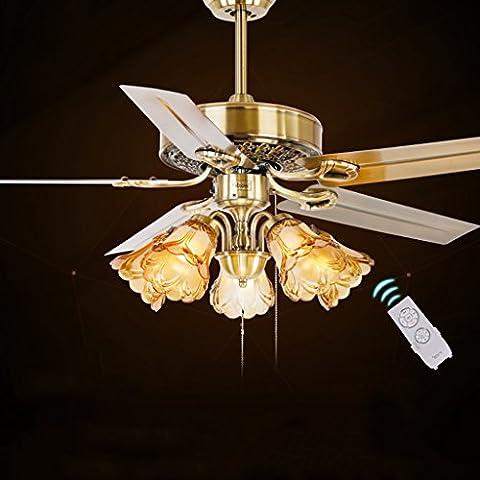 Soffitto luce illumina il ventilatore fan ristorante minimalista foglia anticato