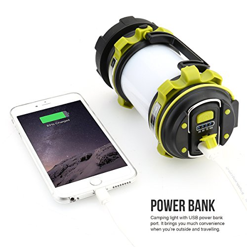 51GtgssRIHL. SS500  - LE Rechargeable CREE LED Torch, 500 Lumen Camping Lantern, Water Resistant Outdoor Searchlight for Emergency, Fishing, Hiking, Power Cuts and More