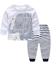 Yilaku Newborn Baby Boy Clothes,Trouser & Tops Outfits Clothes Sets,Toddler Boys 0-24 Months Elephant Print