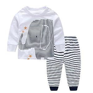 conjuntos: Yilaku Bebé Niños Ropa Conjunto para Tops y Pantalones Ropa para Dormir Elefante...
