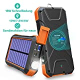 Fast Wireless Power Bank, 20000mAh Solar Charger, Enhanced External Battery, Portable Emergency Power