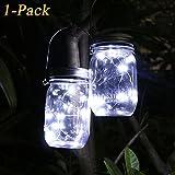 Solar Mason Jar Licht, Wasserdichte LED Einweckglas Garten Hängeleuchten, Solarlampe Weckglas Fee...