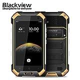 sunsetglow Blackview BV6000 3GB / 32GB Gelb, 4,7 '' Robustes Smartphone entsperrt IP68 Wasserdicht, Octa-Core Rui, Dual-Sim, 5MP + 13MP Kamera, Corning Gorilla Glas 3, NFC, Schnellladung, 4500mAh