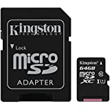 Kingston - SDC10G2/64GB - Carte MicroSD - 64 Go - Adaptateur SD