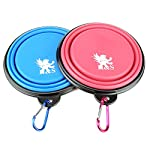 H&S 2 Dog Bowl Collapsible Travel Dog Water Bowl Portable Cat Pet Silicone Food Bowl Small 51Gti l 2B3GL