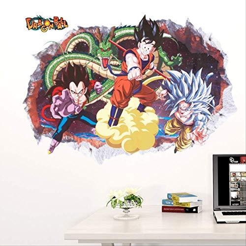 hzcl Cartoon Dragon Ball 3D Vivid Wand Aufkleber Anime Dragon Valley Vegetarische Mural Smash Wall Decoration