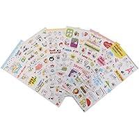 46 Stücke Retro Vintage Muster Aufkleber Kinder Spielzeug Diy Scrapbook AB