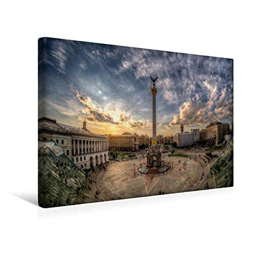 Preisvergleich Produktbild Premium Textil-Leinwand 45 cm x 30 cm quer, Kiew - Maidan | Wandbild, Bild auf Keilrahmen, Fertigbild auf echter Leinwand, Leinwanddruck (CALVENDO Orte)
