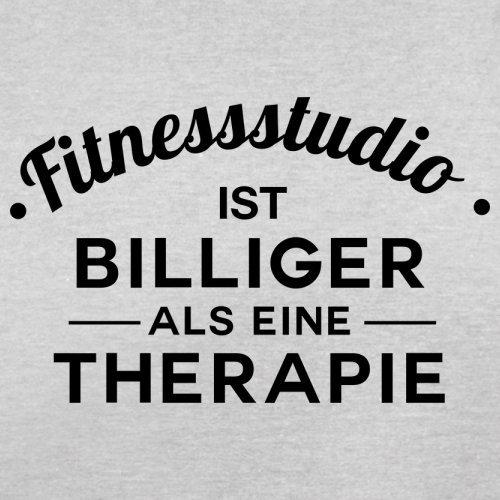 Fitnessstudio ist billiger als eine Therapie - Herren T-Shirt - 13 Farben Hellgrau