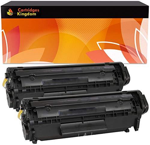 Cartridges Kingdom FX10 Pack de 2 Compatibles Cartuchos de Tóner para Canon I-SENSYS MF4350D MF4330D MF4370DN MF4010 MF4120 MF4140 MF4150 MF4100 FAX L95 L100 L120 L140 L160 LASERBASE PC-D440 PC-D450