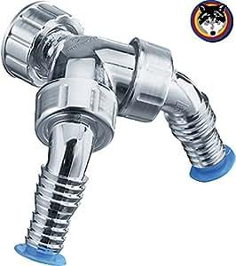 Washing Machine Dishwasher Double Hose Nozzle Backflow Preventer For Tzsifon Diy