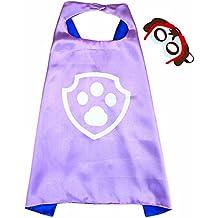 Paw Patrol Skye Cape y máscara - Super Héroes de disfraces para niños - Disfraz para niños de 3 a 10 años - para Super Held Fiestas. Juguetes para niños y niñas - King Mungo - kmsc014