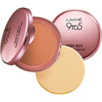 Lakmé 9 to 5 Primer with Matte Powder Foundation Compact, Honey Dew, 9g